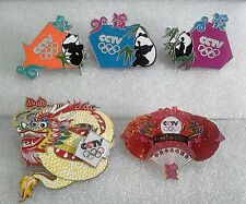 2012 LONDON OLYMPIC CHINA MEDIA CHINESE CCTV COMPLETE PIN SET 5 PINS