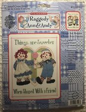 Raggedy Ann & Andy Cross Stitch Kit Things Are Sweeter Gloria and Pat Aida New