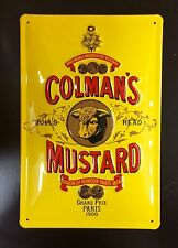 COLMAN'S MUSTARD -  EMBOSSED (3D) ADVERTISING SIGN ~ 30x20 CM
