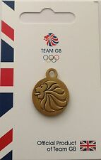RIO 2016 OLYMPICS TEAM GB REPLICA LIONS HEAD TRACK SUIT MEDALLION ZIP PULL