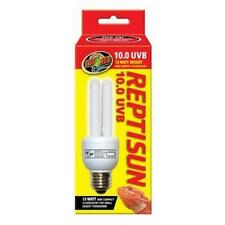 Zoo Med 25157 Reprising 10.0 UVB Compact 13W Fluorescent Lamp, Mini, New, Free S