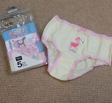 NEW, Girls Knickers Pants X5, 2-3y, M&Co, Days Of The Week
