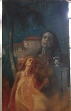 "OIL PAINTING STUDY Illustration ""wall of night ""BY STUART KAUFMAN 1926-2008"