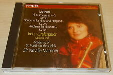MOZART-FLUTE CONCERTO IN C-CD 1989-GRAFENAUER/MARRINER-FULL SILVER RING-MINT