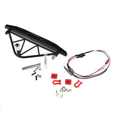 1:10 RC Crawler Metal Rear Bumper with Spare Tire Carrier LED for Axial SCX10