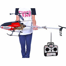 "53"" Extra Large RED 3.5CH Helicopter GT 2 Speed RC Remote Control GYRO heli toy"