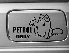 Simon's Cat Petrol Only Funny Vinyl Sticker Decal Vehicle Auto Car Black White