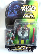 STAR WARS / DELUXE BOBA FETT WITH WING BLAST ROCKETPACK & OVERHEAD CANNON