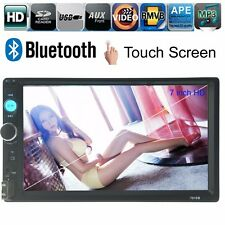 Bluetooth Coche Radio Vídeo 7'' HD USB/FM/AUX Estéreo MP3 2 DIN Pantalla Táctil