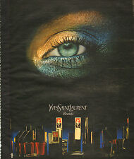 Publicité Advertising 1978  Beauté YVES SAINT LAURENT maquillage  YSL