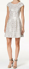 Calvin Klein New Plus Sequin Fit & Flare Dress Size 16W MSRP $179 #JN 274 (16W)