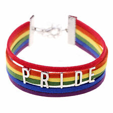 Hup Lesbian Pride Flag Gay Braid Rainbow Bracelet Charm Love Valentine's Gifts