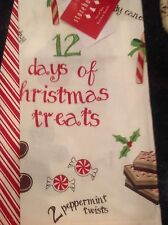 STOREHOUSE KITCHEN TEA TOWELS (2) 12 DAYS OF CHRISTMAS TREATS NWT
