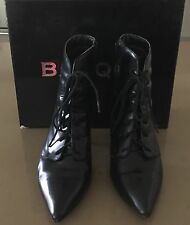 """Pre-owned Excellent Condition BASQUE """"Trixi"""" Black Ankle Boots Size 40 (9)"""