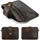 Cool Fashion Mens Genuine Leather Money Clip Wallet ID Credit Card Holder Case I