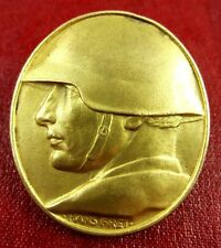 1918 WWI SWISS NATIONAL DONATION MEDAL BADGE PIN FOR SOLDIERS BY HANS FREI RRR