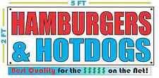 HAMBURGERS & HOTDOGS Banner Sign NEW Size Best Quality for The $$$ Fair Food