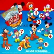 1994 McDonalds Mickey & Friends at Epcot MIP Complete Set of 8, Boys & Girls, 3+