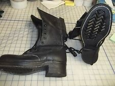 6 1/2 E climbers boots TALL leather punk support goth USA made military issue