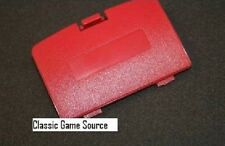 NEW CRIMSON RED BERRY GAME BOY COLOR REPLACEMENT BATTERY COVER LID DOOR