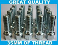 20 X M12 X 1.5 35MM RADIUS LONG EXTENDED WHEEL BOLTS FIT MERCEDES C CLASS W203