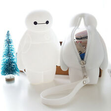 New Big Hero Baymax iphone case Key bag Clutch Purse White Silicone Rubber Gift