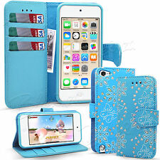 For Apple Ipod Touch 5 / 6 Gen - Wallet Leather Case Flip Cover + Screen Guard
