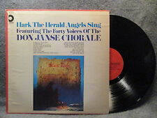 33 RPM LP Record Don Janse Chorale Hark The Herald Angels Sing Design SDLPX-25