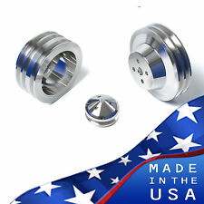 Billet Aluminum Ford Pulleys 289 302 351W Kit 3V Air Conditioning AC A/C SBF Set
