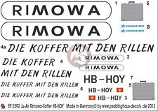 Peddinghaus 1/48 Junkers Ju 52/3mg4e Markings Swiss RIMOWA Special Colors 2592