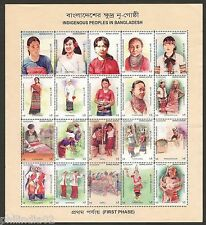 Bangladesh 2010 Indigenous Peoples Dance Costume Culture Sheet of 20 MNH # 10043