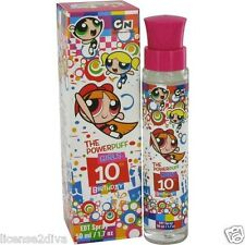 THE POWERPUFF GIRLS! CARTOON NETWORK! GIRLS 10TH BIRTHDAY PERFUME! 1.7 0Z!