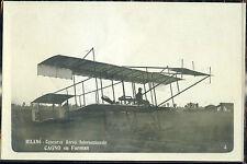 1910 - Milano - Concorso Aereo Internazionale - Cagno su Farman