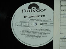 SPITZENREITER 70/71 - Bee Gees, James Last LP Polydor Promo Archiv-Copy mint
