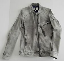 G-Star Denim Jacket Revend Biker 3D Super Slim Fit Light Aged Aged small