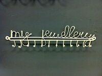 Cream Wall My Jewellery Hanger Hooks holder for Keys Necklace Bracelet Heart