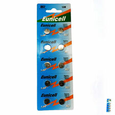 10 pcs AG7 395A SR927 SR57 LR927 927 1.5V Alkaline Button Cell Battery EuniCell