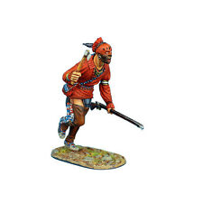 AWI084 Woodland Indian Charging with Tomahawk and Musket by First Legion