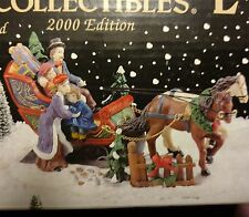 Bradford Victorian Village Collectible Old Town Sleigh and Children 2000 Edition