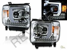 14-15 GMC Sierra 1500 / 2015 2500HD 3500HD LED Projector Headlights RH+LH