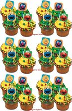 Sesame Street 24 Cupcake Rings Elmo Big Bird Birthday Bag Fillers Favors Prizes