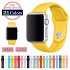 Replacement Silicone Wrist Bracelet Sport Band Strap For Apple Watch iWatch