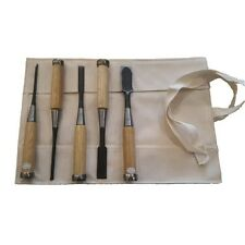 5 Piece Japanese SK-5 Nomi Chisel Set In Roll DK5R