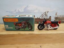 Vintage Lesney 1974 Matchbox #18 Hondarora Red Motorcycle In Box, Diecast