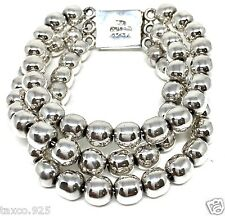 VINTAGE STYLE TAXCO MEXICAN 925 STERLING SILVER BEADED BEAD BRACELET MEXICO