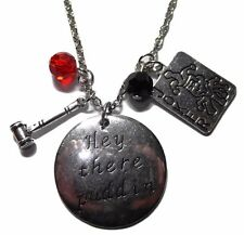"""DC Comics Suicide Squad Harley Quinn ( 3 Themed Charms) Necklace with 20"""" Chain"""