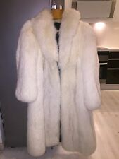 Beautiful white/gray silver fox long coat