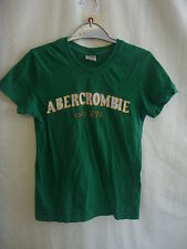 "Ladies/girls T-shirt - Abercrombie & Fitch, size XS 28"" bust green, cotton 8124"