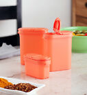 TUPPERWARE spice shakers (Peach) - Set of 4 Shakers - Free Shipping -100%Genuine