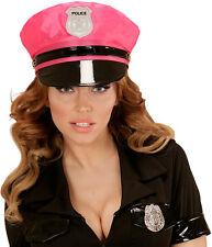Party Police Polizeimütze neon-pink NEU - Karneval Fasching Hut Mütze Kopfbedeck